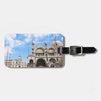 Het vierkant van San Marco in Venetië, Italië Kofferlabel