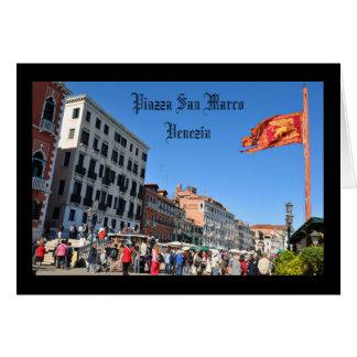 Het vierkant van San Marco in Venetië, Italië Wenskaart