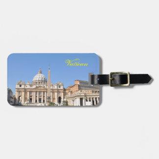 Het vierkant van San Pietro in Vatikaan, Rome, Kofferlabel