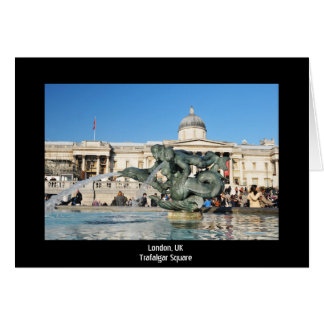 Het Vierkant van Trafalgar in Londen, het UK Briefkaarten 0