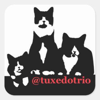 Het Vierkant van TuxedoTrio Vierkante Sticker