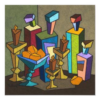 Het (Vierkante) Fruit en de Wijnstok 13,3x13,3 Vierkante Uitnodiging Kaart