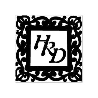Het vierkante Monogram van het Lijst Rubberstempel