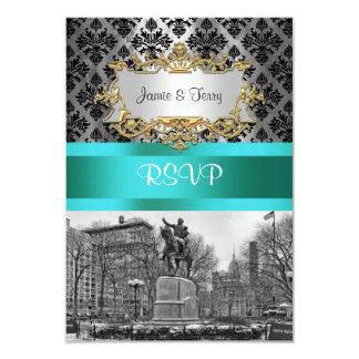 Het Vierkante NYC Zwarte Damast van de Unie 212 Kaart