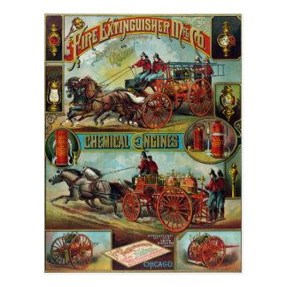 Het vintage Adverterene Brandblusapparaat van de Briefkaart
