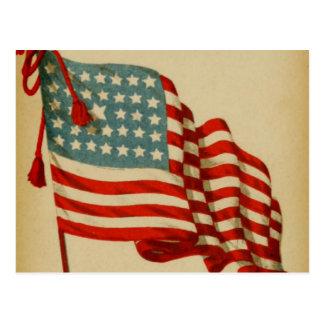 Het vintage Amerikaanse Briefkaart van de Vlag