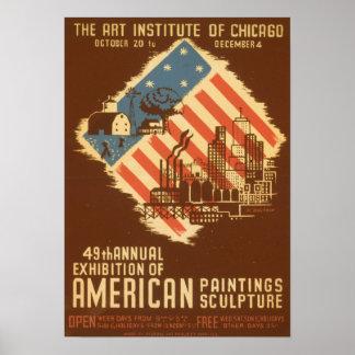 Het vintage Amerikaanse Poster van de