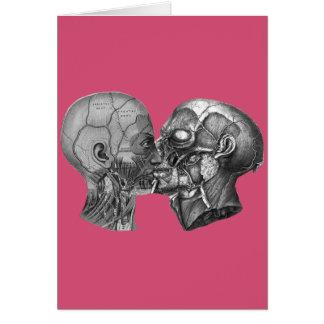 Het vintage Anatomische Hoofd kussen Kaart