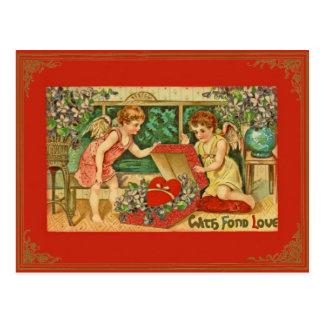 Het vintage/Antiek Briefkaart van Valentijn