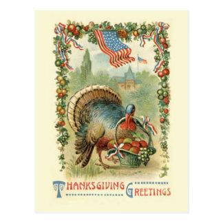 Het vintage Antiek Patriottische Briefkaart van de