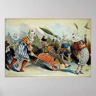 Het Vintage Art. van de Clowns van het circus Poster