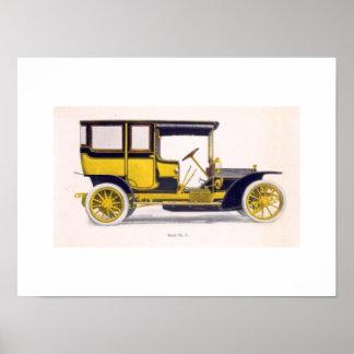Het vintage Art. van de Muur van de Auto Poster