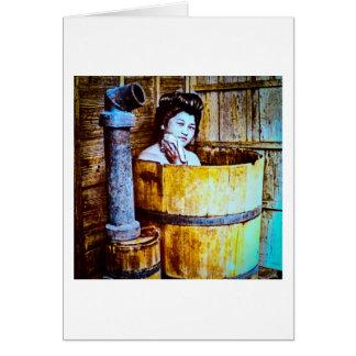 Het vintage Baden van de Geisha in Houten Ton in Kaart