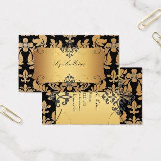 Het vintage barokke damast van PixDezines Visitekaartjes