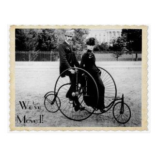 Het vintage Bewegende Briefkaart Achter elkaar van