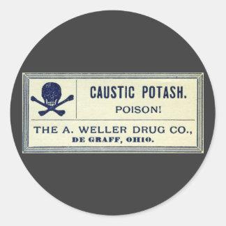 Het vintage Bijtende Etiket van het Vergift van de