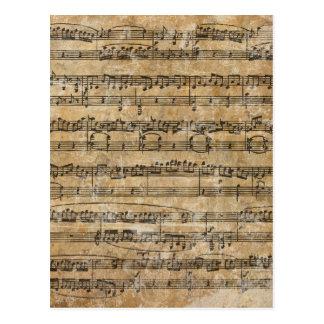 Het vintage Blad van de Muziek Briefkaart