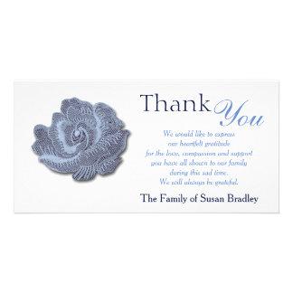 Het vintage Blauw nam Sympathie dankt u de Kaart
