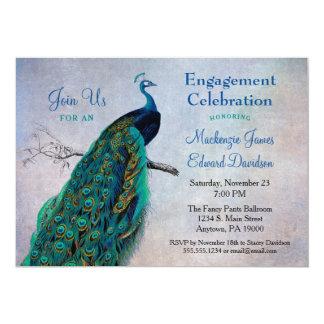 Het Vintage Blauw van de Uitnodiging van de Partij