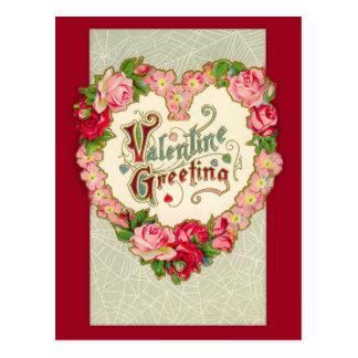Het vintage BloemenBriefkaart van Valentijn van Briefkaart