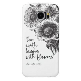 Het vintage Bloemenhoesje van de Melkweg van Samsung Galaxy S6 Hoesje