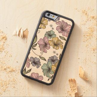 Het vintage BloemenPatroon van de Druk Esdoorn iPhone 6 Bumper Hoesje