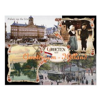Het vintage Briefkaart Amsterdam van Holland van