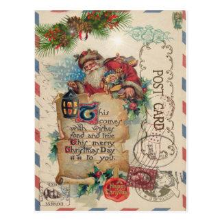 Het vintage Briefkaart de Kerstman van het