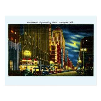Het vintage Briefkaart van Broadway Los Angeles