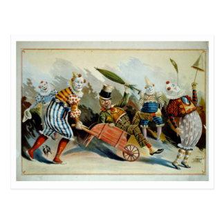 Het Vintage Briefkaart van clowns