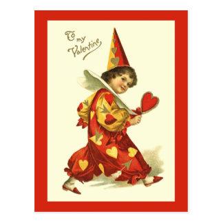 Het vintage Briefkaart van de Clown van Valentijn