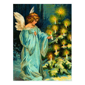 Het vintage Briefkaart van de Engel van Kerstmis