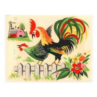 Het vintage Briefkaart van de Haan