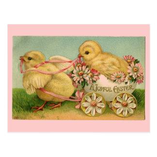 Het vintage Briefkaart van de Kuikens van Pasen