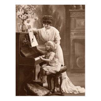 Het vintage Briefkaart van de Muziek van de Piano