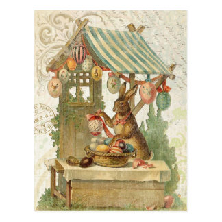 Het vintage briefkaart van de Paashaas Wenskaarten