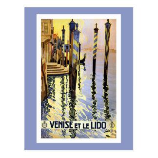 Het vintage Briefkaart van de Reis van Venetië