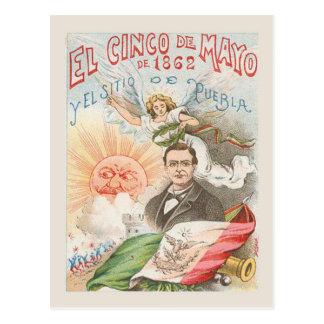 Het Vintage briefkaart van de replica, Cinco DE
