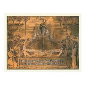 Het Vintage briefkaart van de replica, de gravure