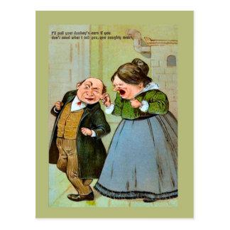 Het Vintage briefkaart van de replica, Humeur,