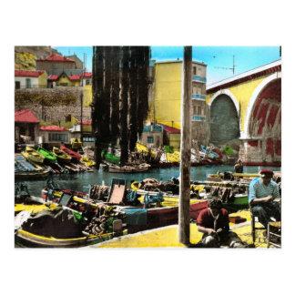 Het Vintage briefkaart van de replica, Marseille,