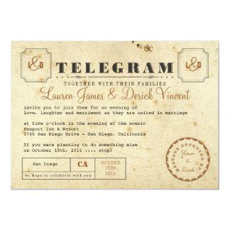 Het vintage Briefkaart van de Uitnodiging van het