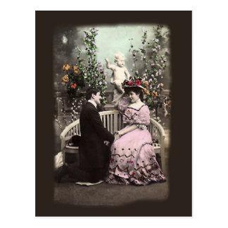 Het vintage Briefkaart van de Valentijnskaarten Wens Kaart