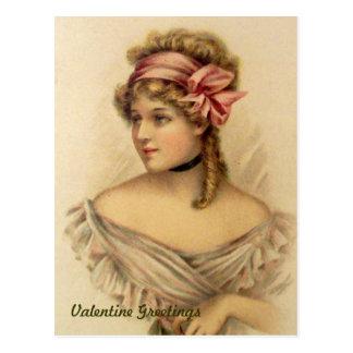Het Vintage Briefkaart van de Victoriaans Groeten