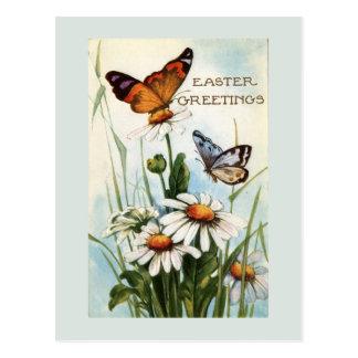 Het vintage Briefkaart van de Vlinders van Pasen