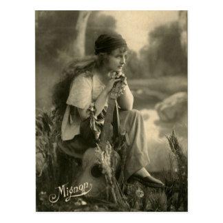 Het vintage Briefkaart van de Zigeuner
