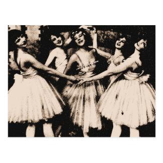 Het vintage Briefkaart van het Ballet