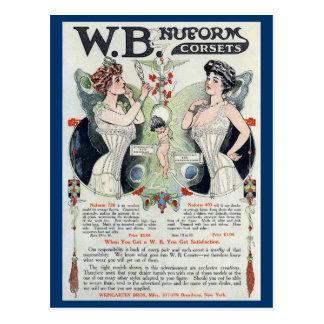 Het vintage Briefkaart van het Korset