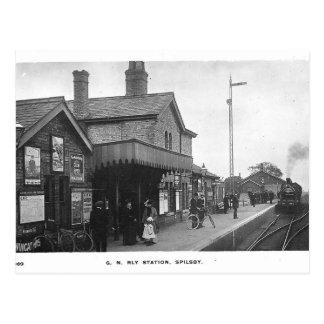 Het Vintage Briefkaart van het Station van Spilsby