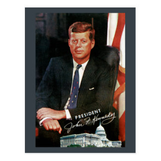 Het Vintage Briefkaart van John F. Kennedy van het